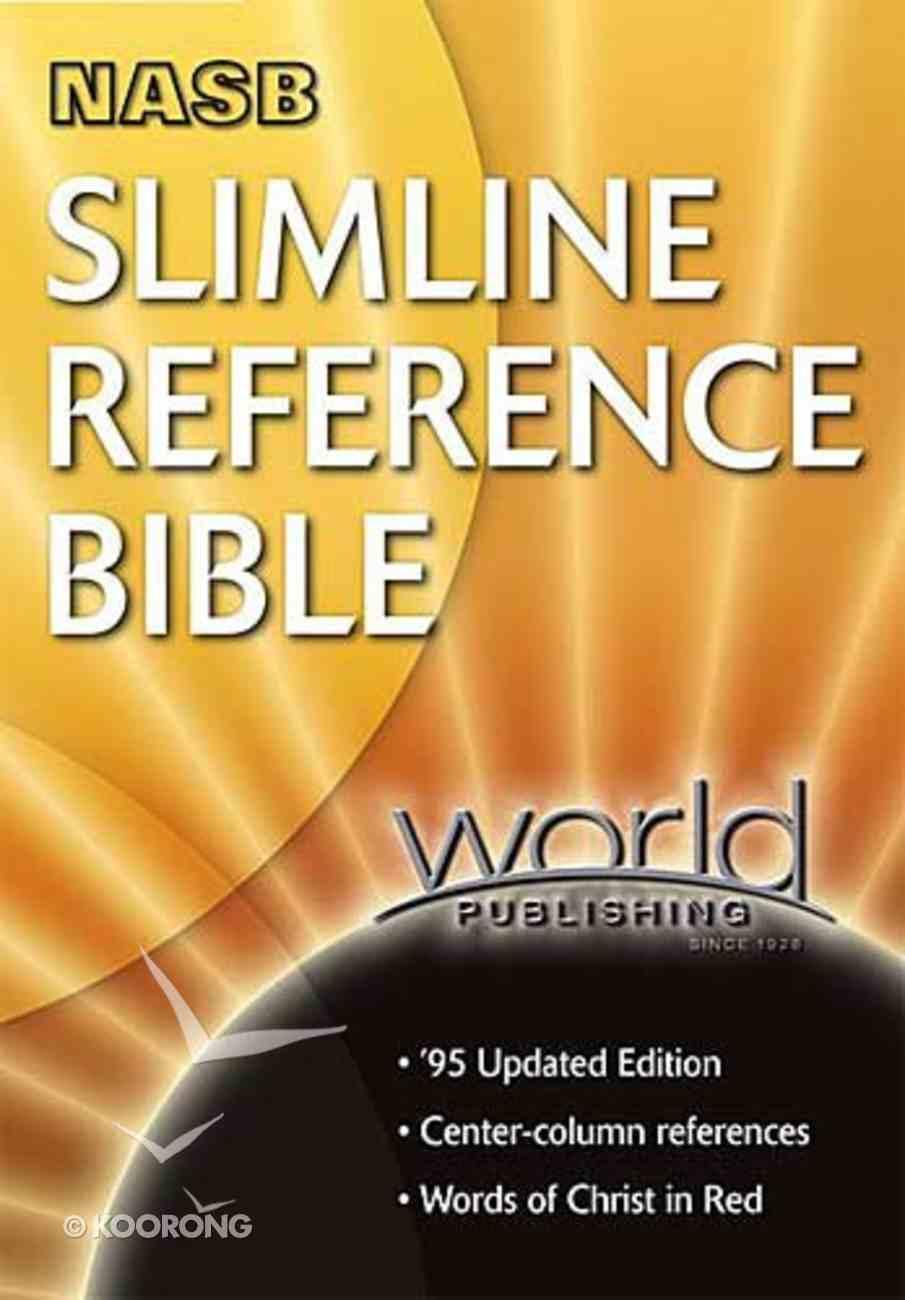 NASB Slimline Reference Black Bonded Leather