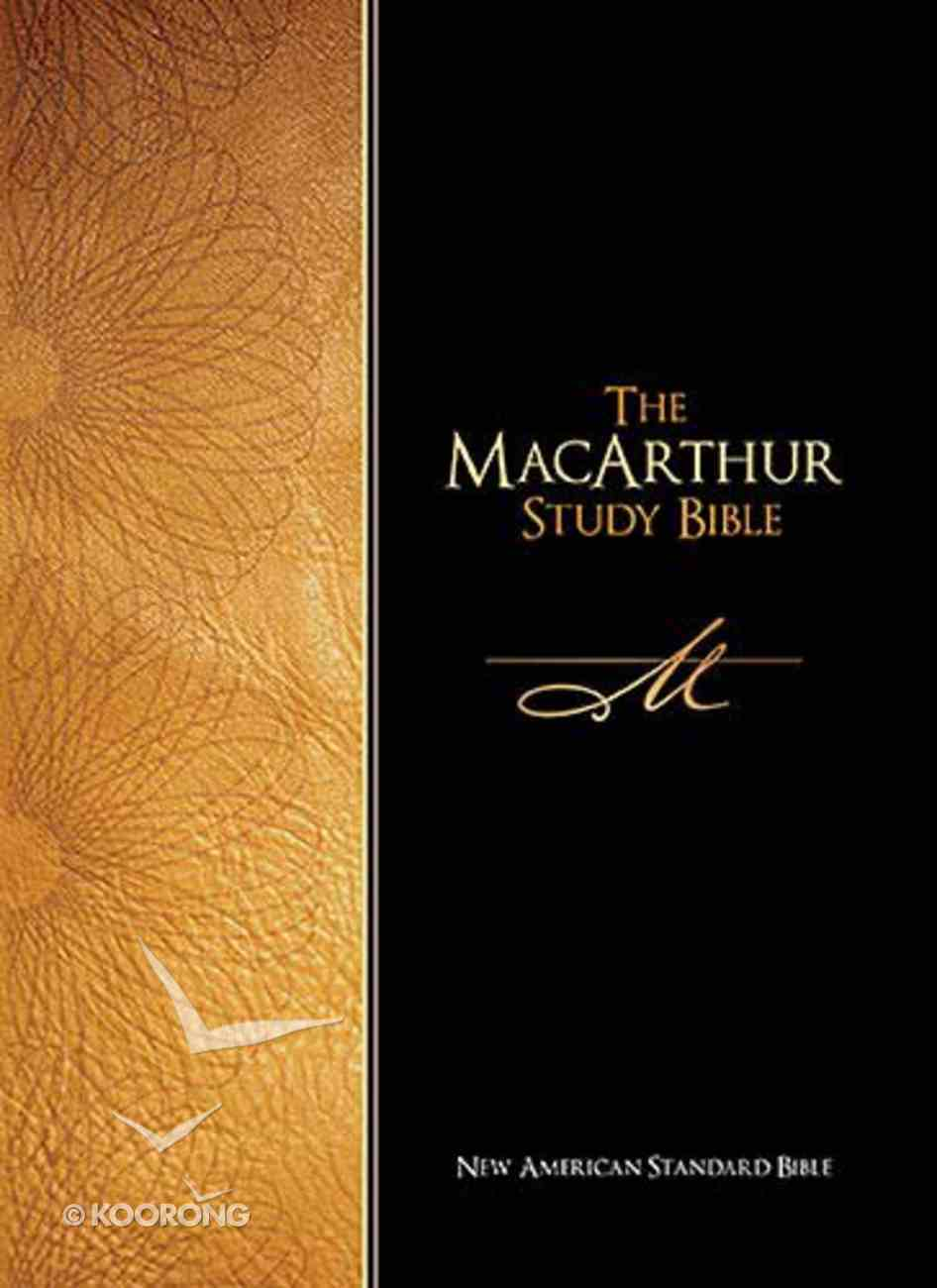NASB Macarthur Study Black Indexed Bonded Leather
