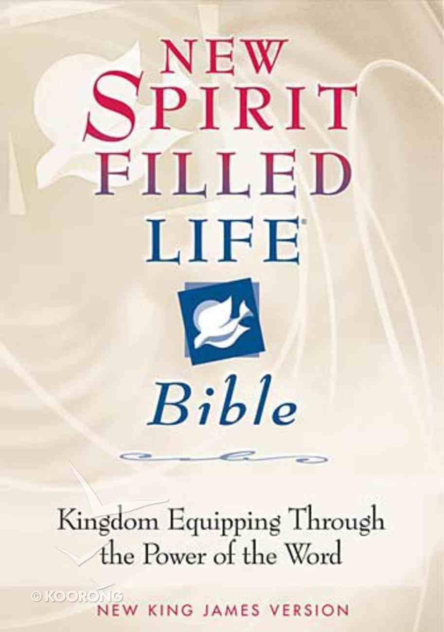 NKJV New Spirit Filled Life Bible Burgundy Bonded Leather