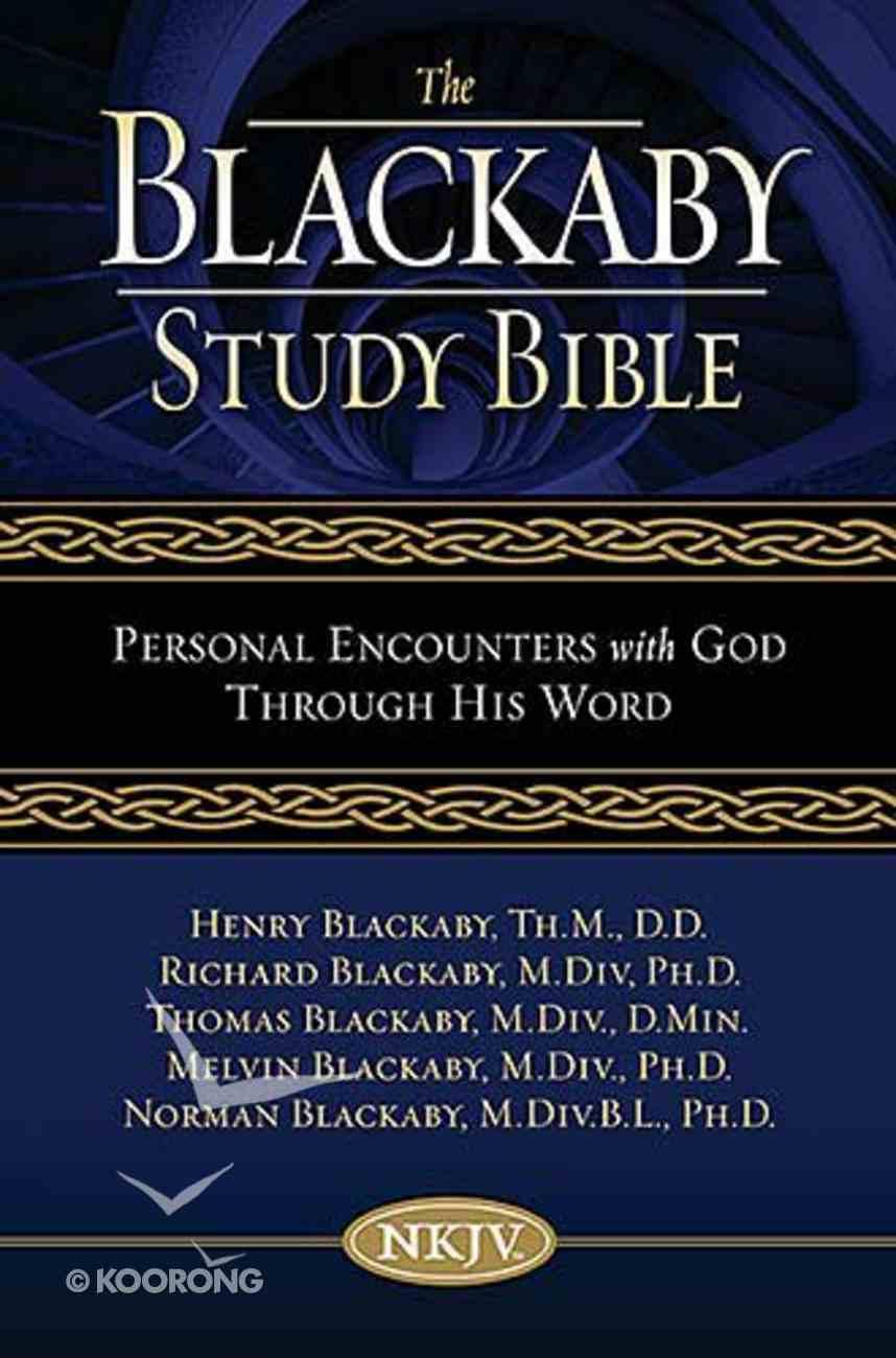 NKJV Blackaby Study Bible Black Genuine Leather