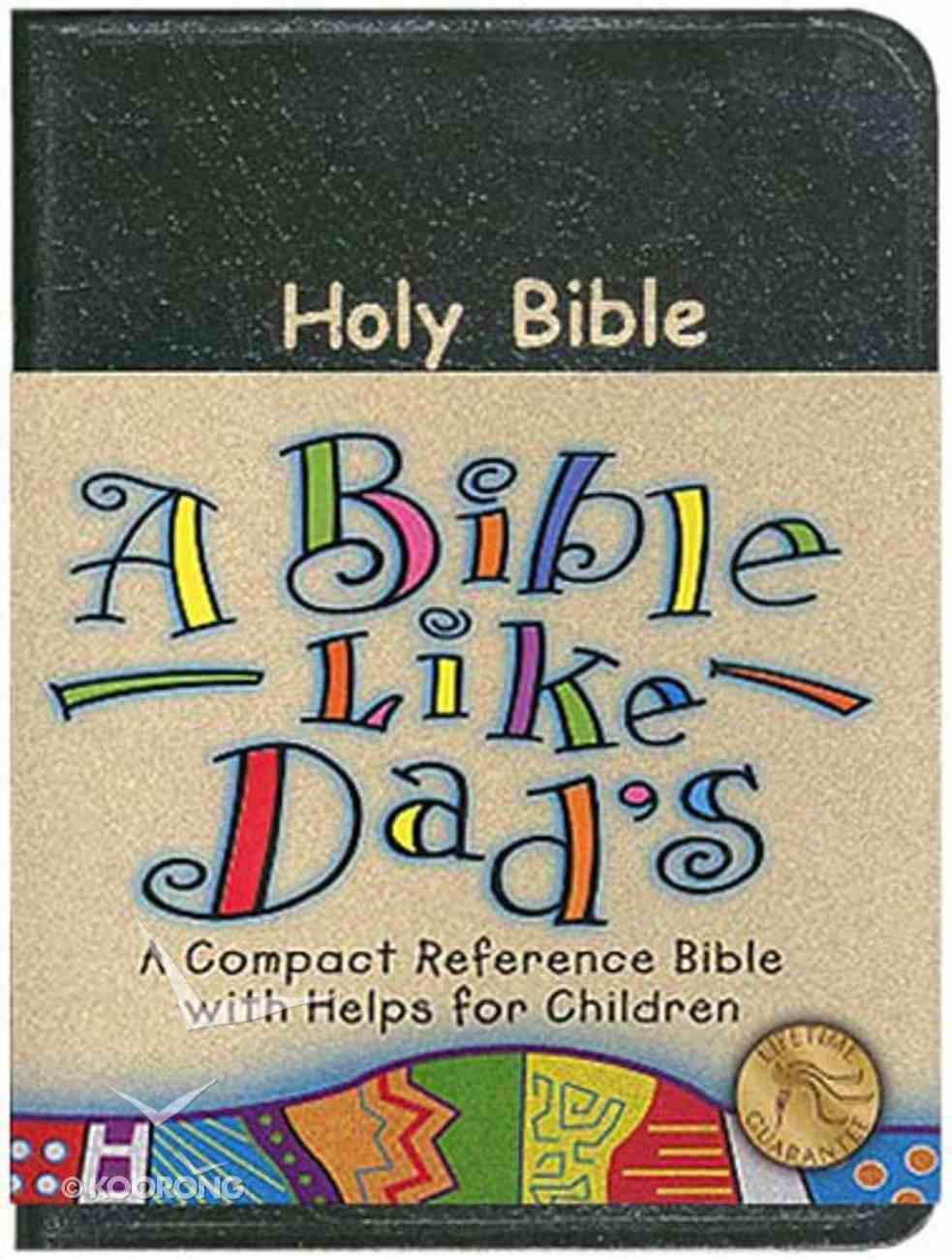 NKJV Bible Like Dads Black Bonded Leather
