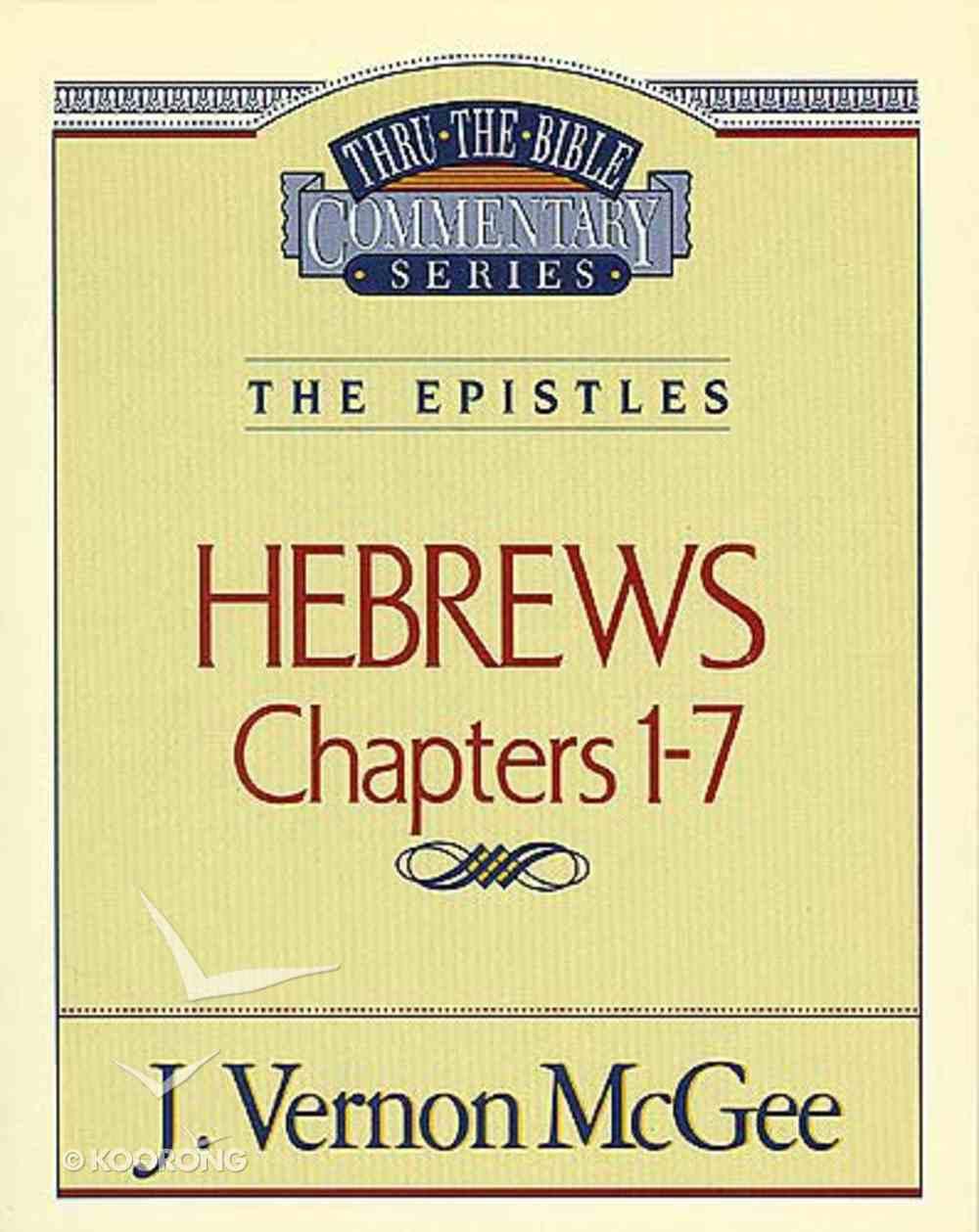 Ttb NT #51: Hebrews Volume 1 Paperback