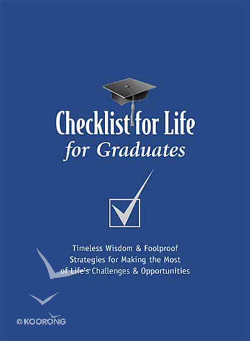 For Graduates (Checklist For Life Series) Paperback