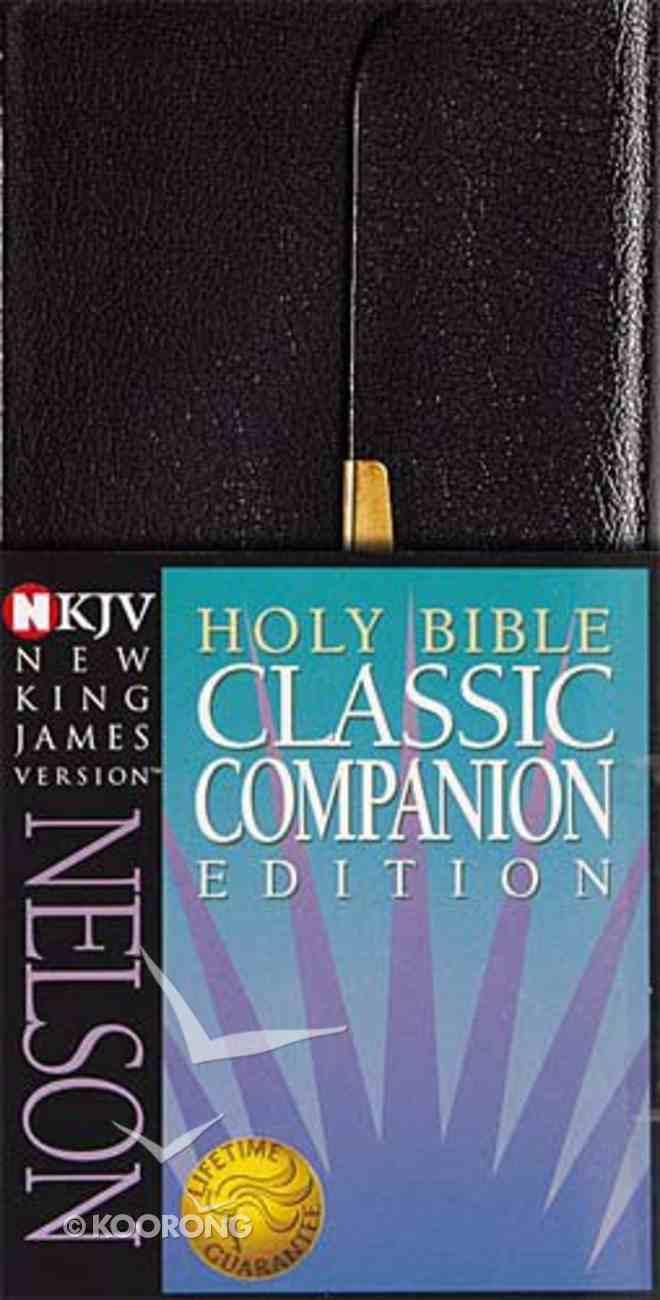 NKJV Checkbook Bible Snap Flap Black (Red Letter Edition) Bonded Leather