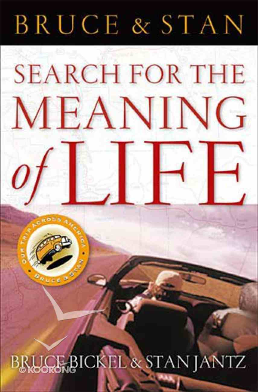 Bruce & Stan: Searching For the Meaning of Life Hardback
