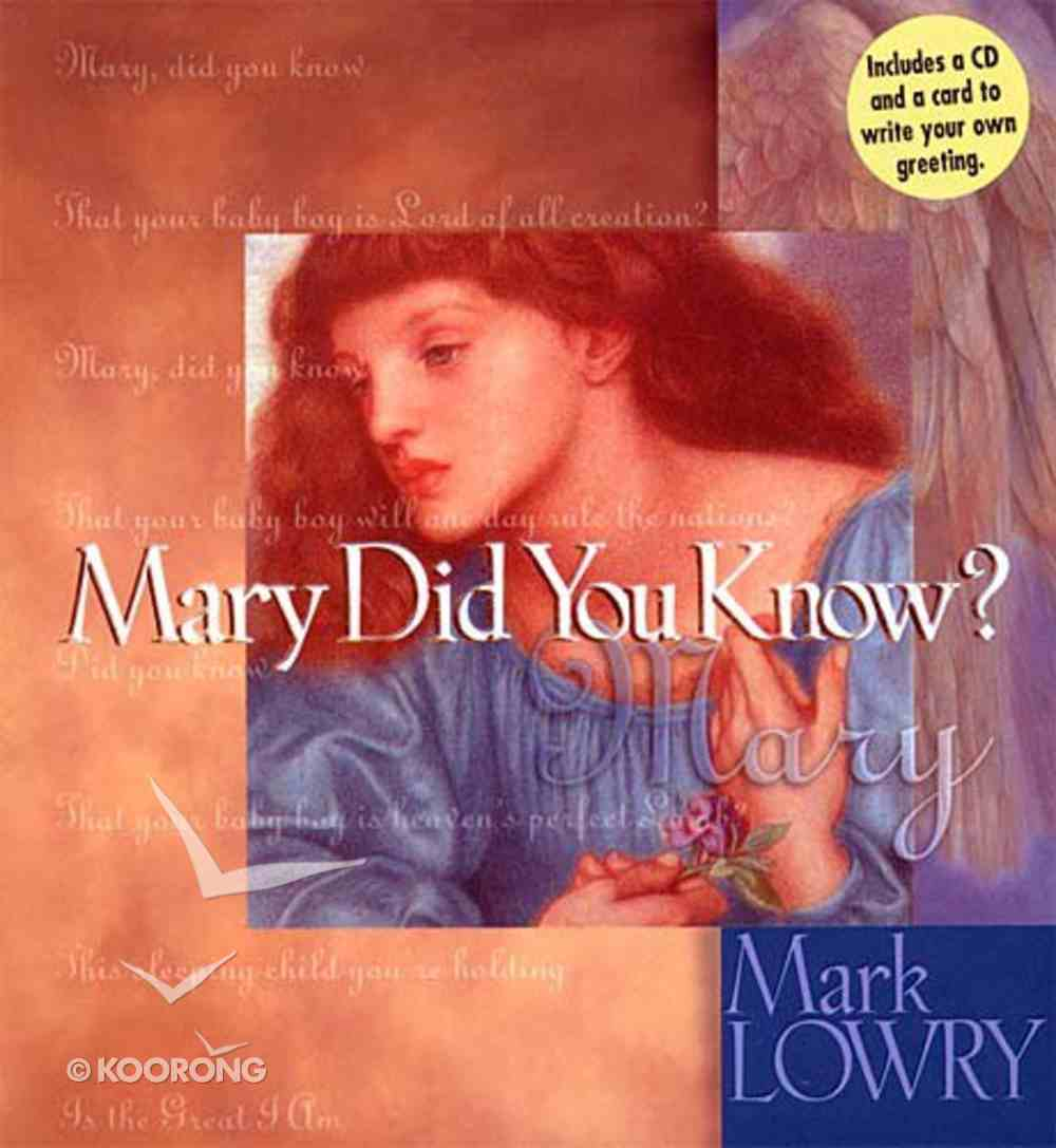 Mary Did You Know? (With Cd Single) Hardback