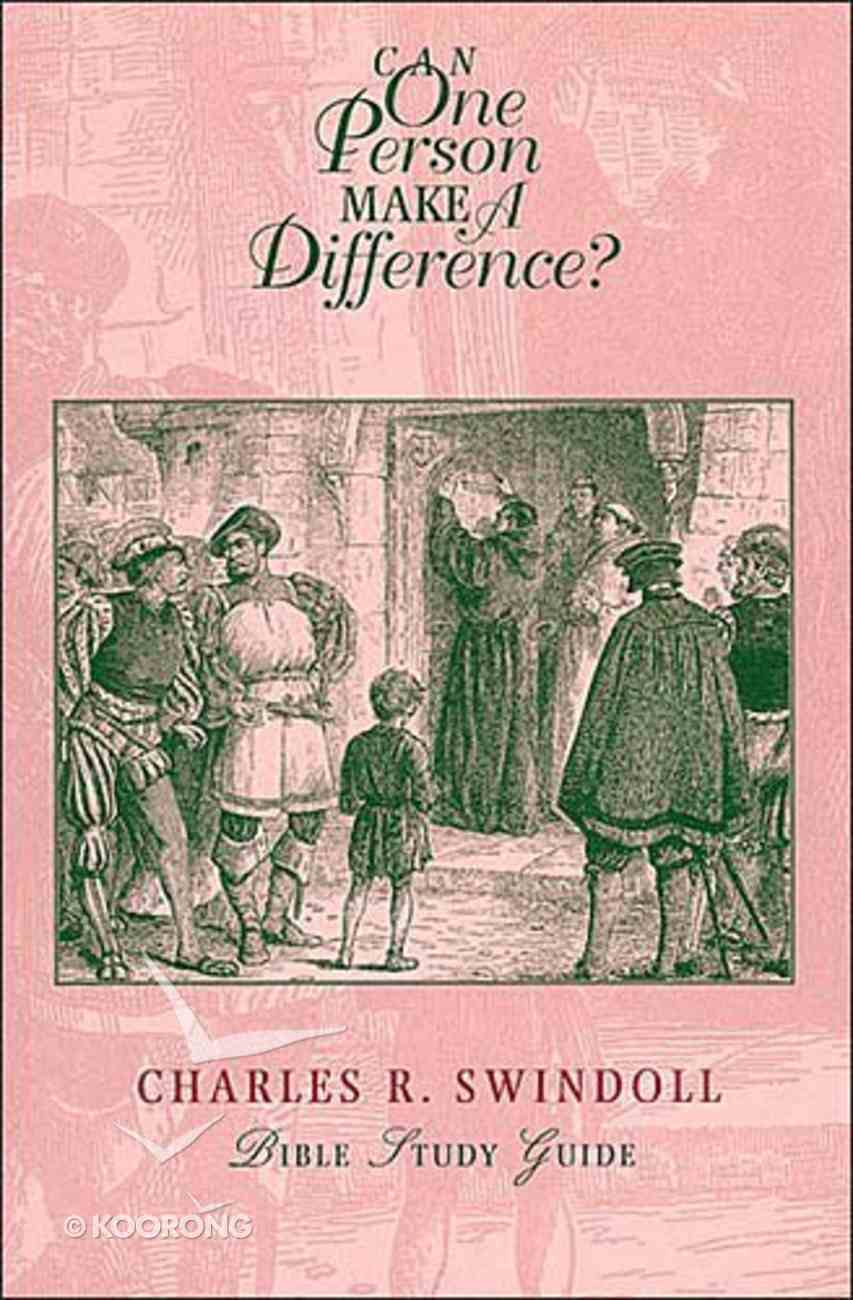 Can One Person Make a Difference Paperback