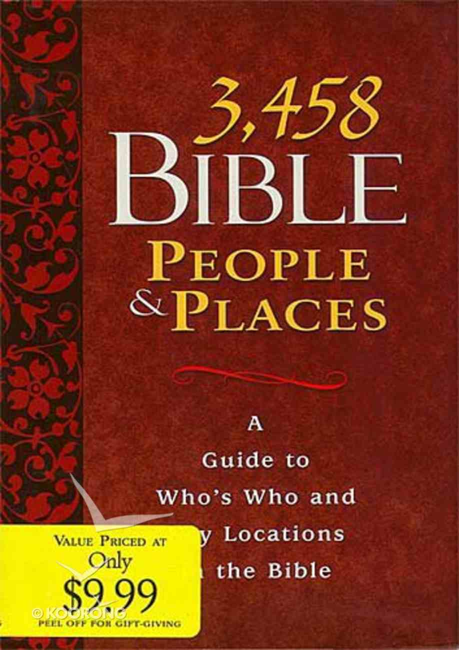 3,458 Bible People & Places Hardback