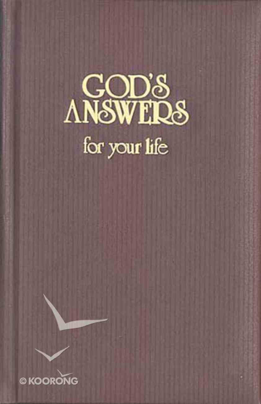 God's Answers For Your Life Hardback
