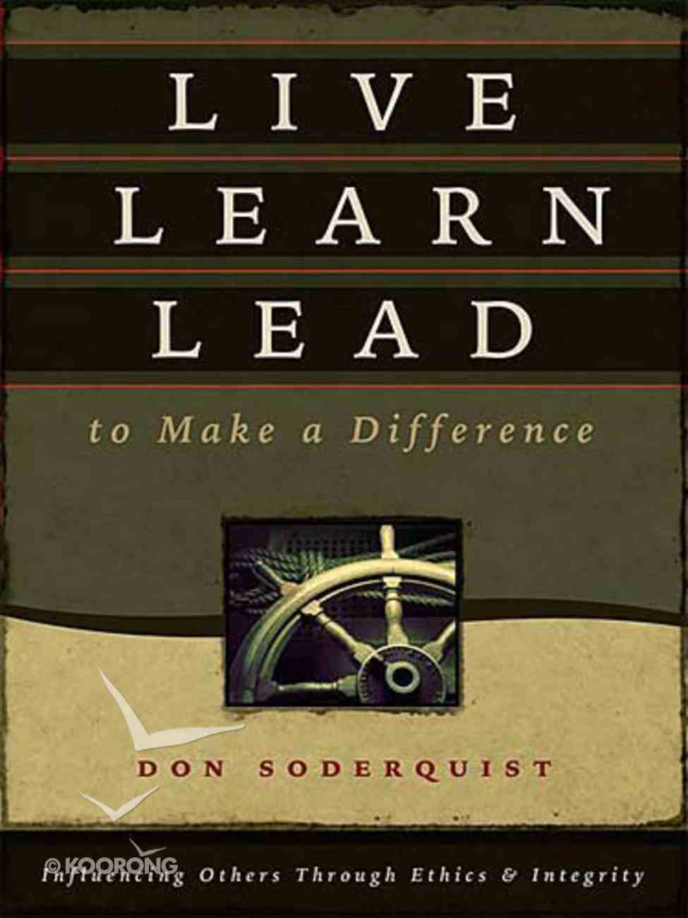 Live Learn Lead to Make a Difference Hardback