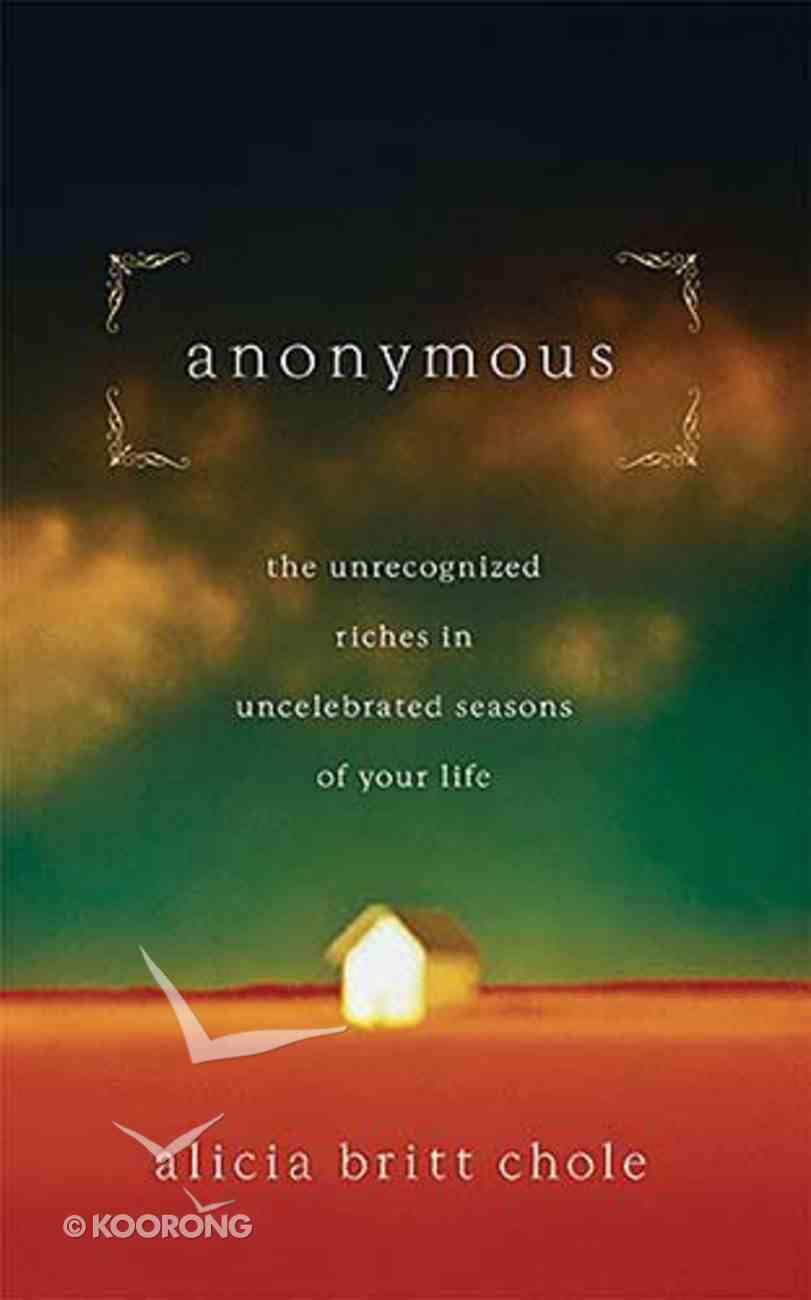 Anonymous Hardback