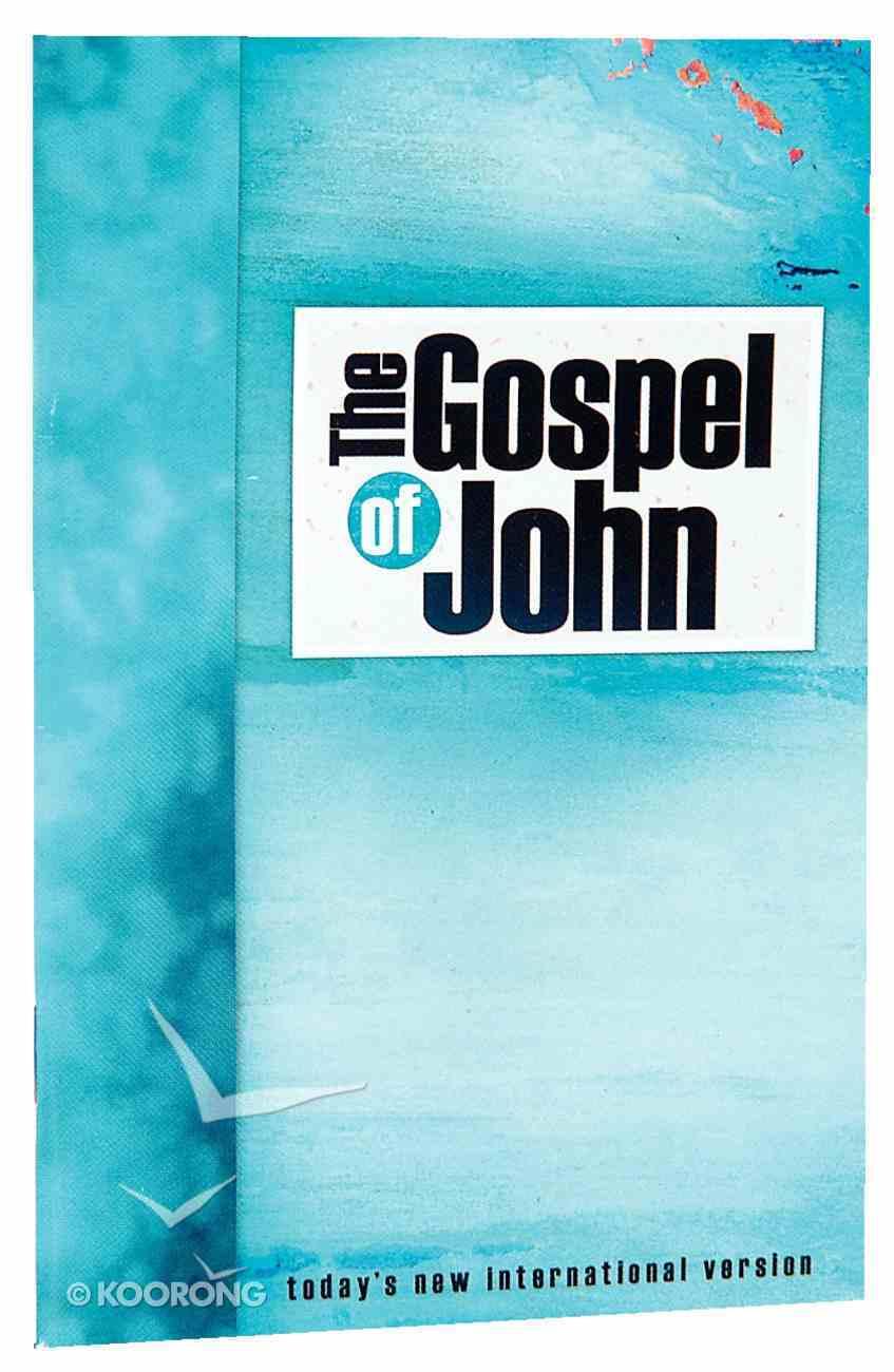 TNIV Pocket Gospel of John: Aqua Cover Paperback