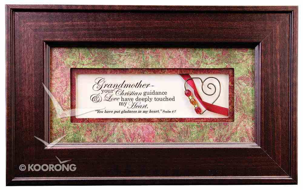 From the Heart Plastic Framed Art: Grandmother Your Christian Guidance Plaque
