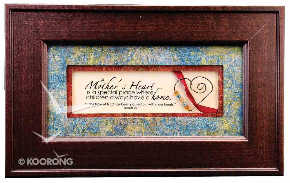 From the Heart Plastic Framed Art: A Mother's Heart Plaque