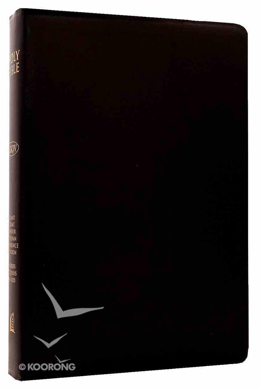 NKJV Giant Print Center-Column Reference Black Imitation Leather