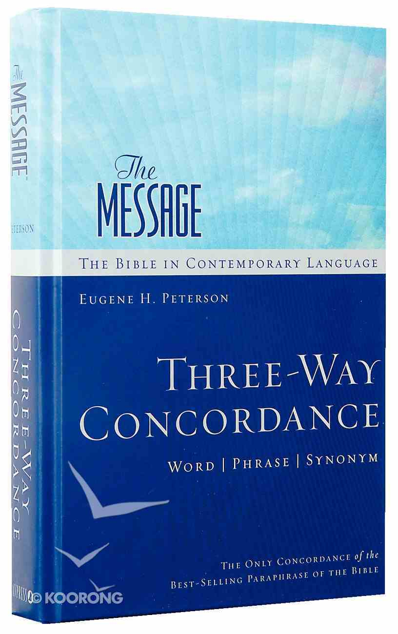 Message Three-Way Concordance: Word/Phrase/Synonym Hardback
