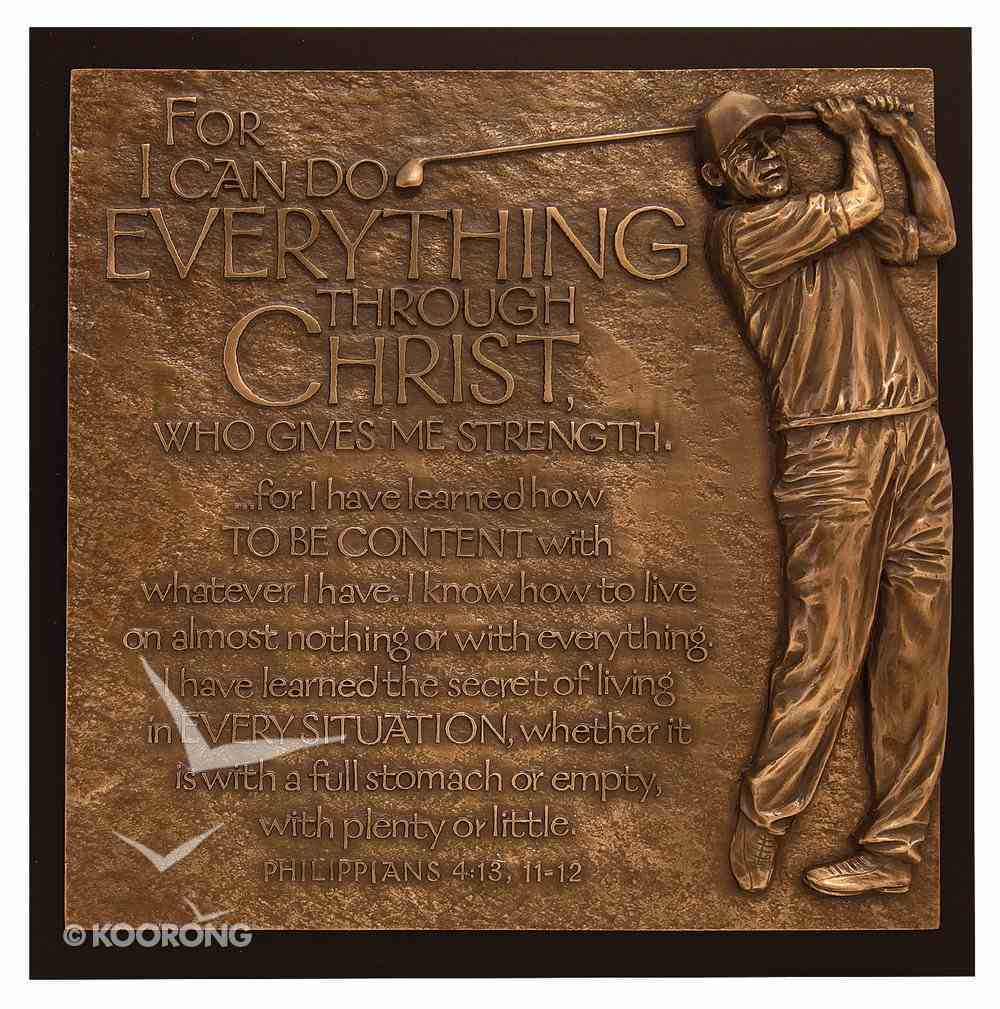 Golfer I Can Do Everything Moments of Faith Plaque Plaque