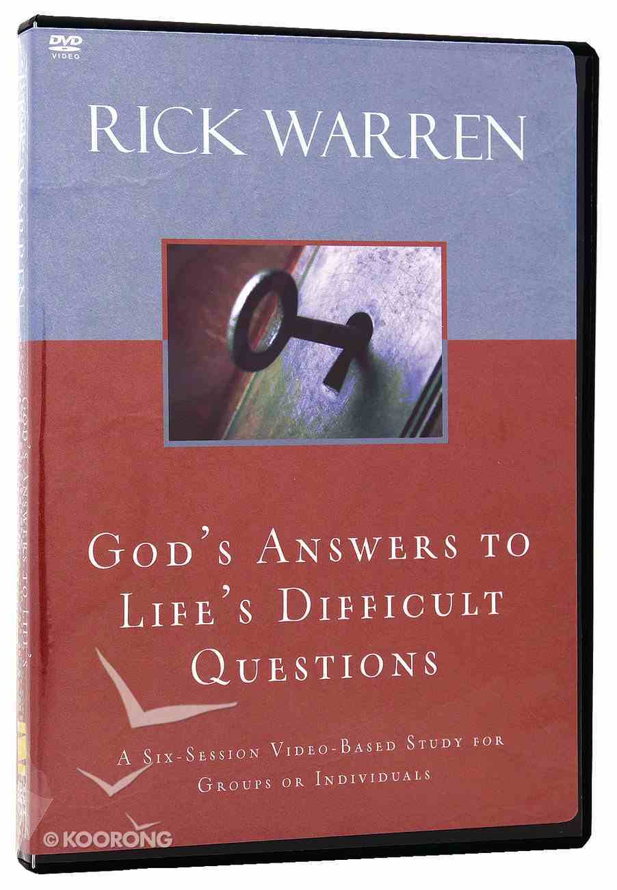God's Answers to Life's Difficult Questions (Dvd) DVD