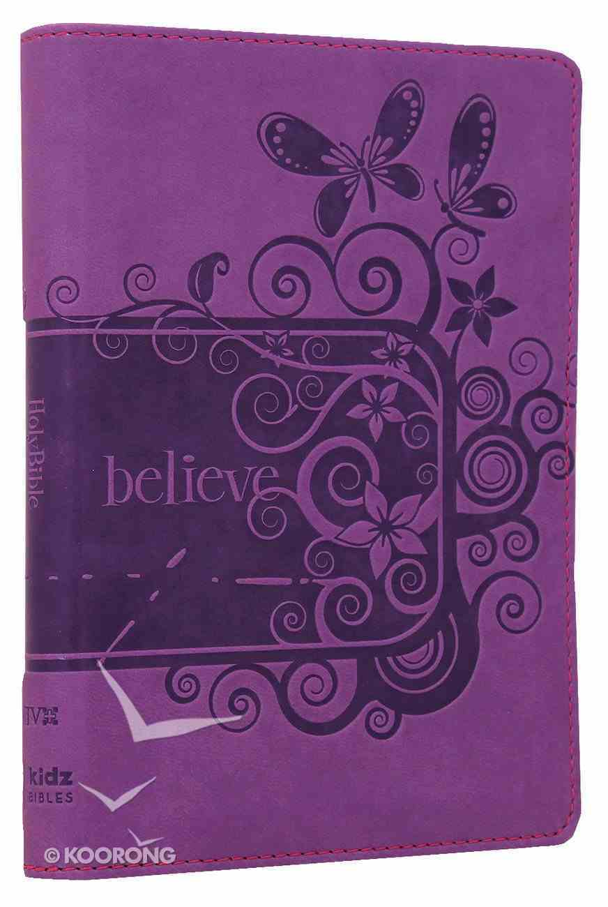 NIV Backpack Bible Pizzaz Purple Duo-Tone Imitation Leather