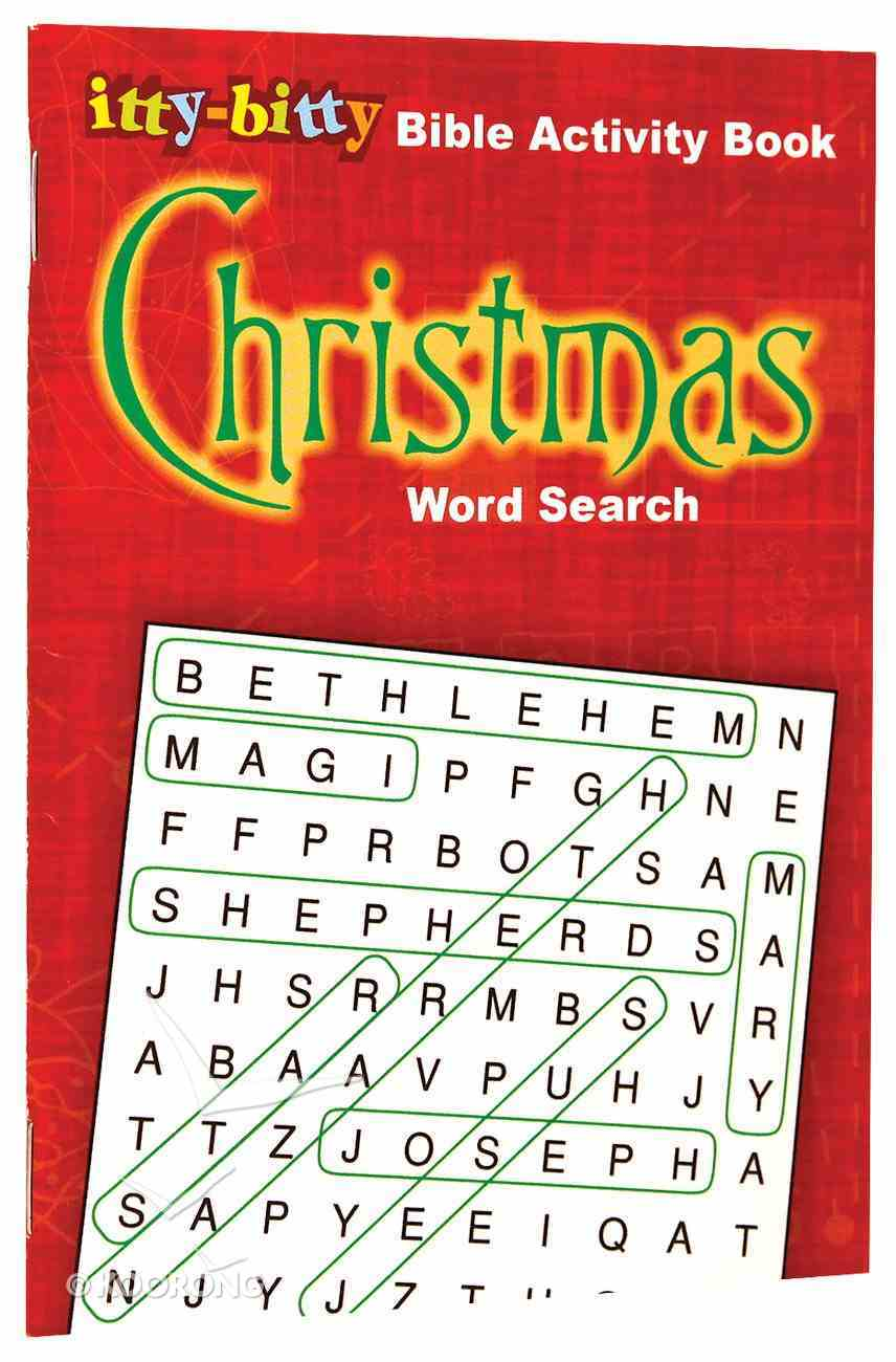 Activity Book Christmas Word Search (Itty Bitty Bible Series) Paperback