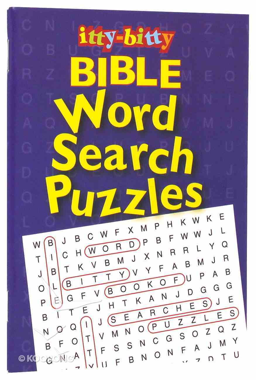 Activity Book Word Search Puzzles (Itty Bitty Bible Series) Paperback