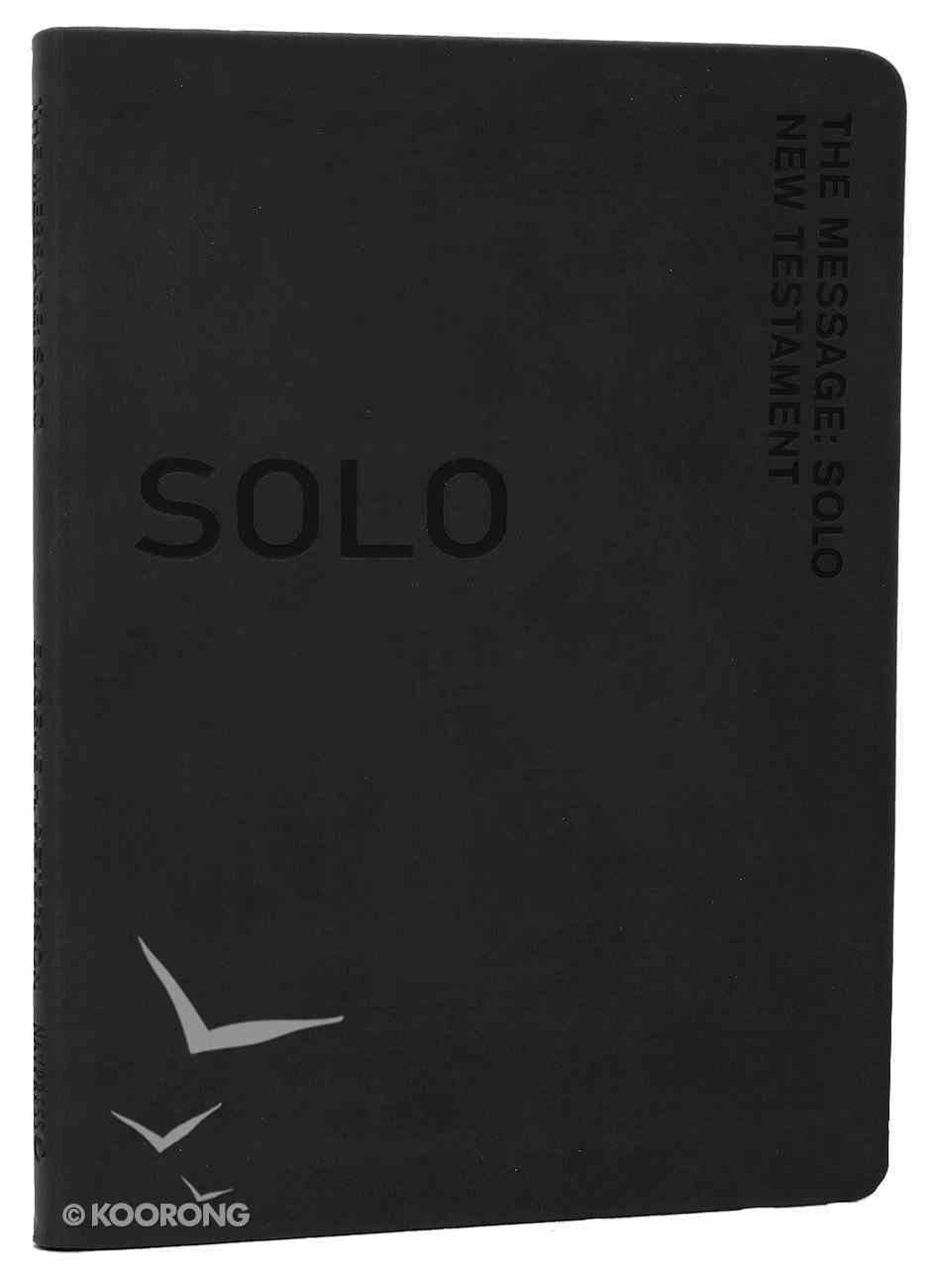 Solo New Testament Devotional Black (Message) Imitation Leather