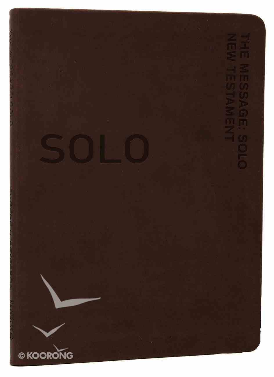 Solo New Testament Devotional Brown (Message) Imitation Leather