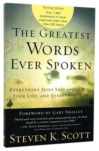 Product: Greatest Words Ever Spoken, The Image