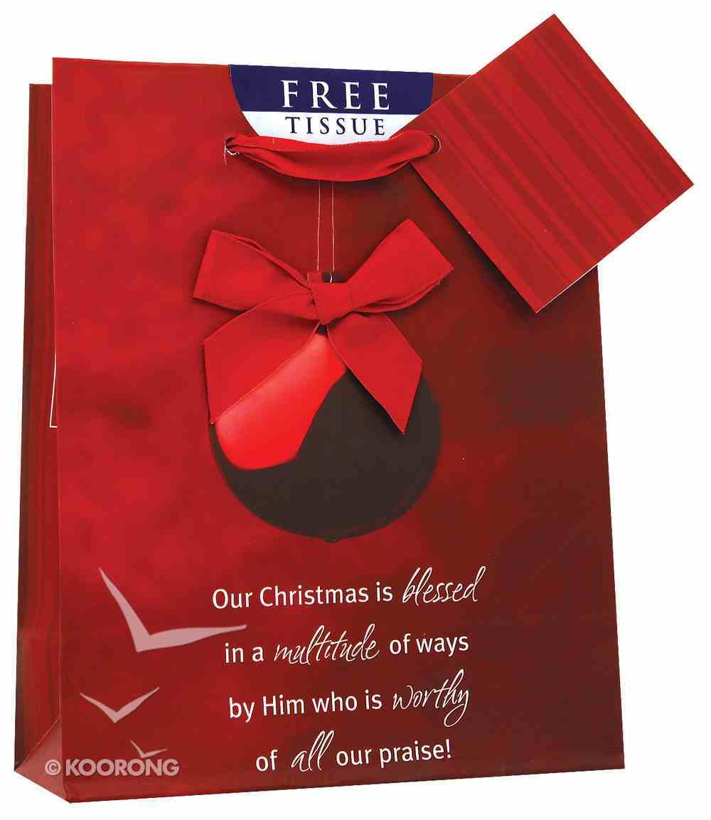 Christmas Gift Bag: Red Ornament (Small) Stationery