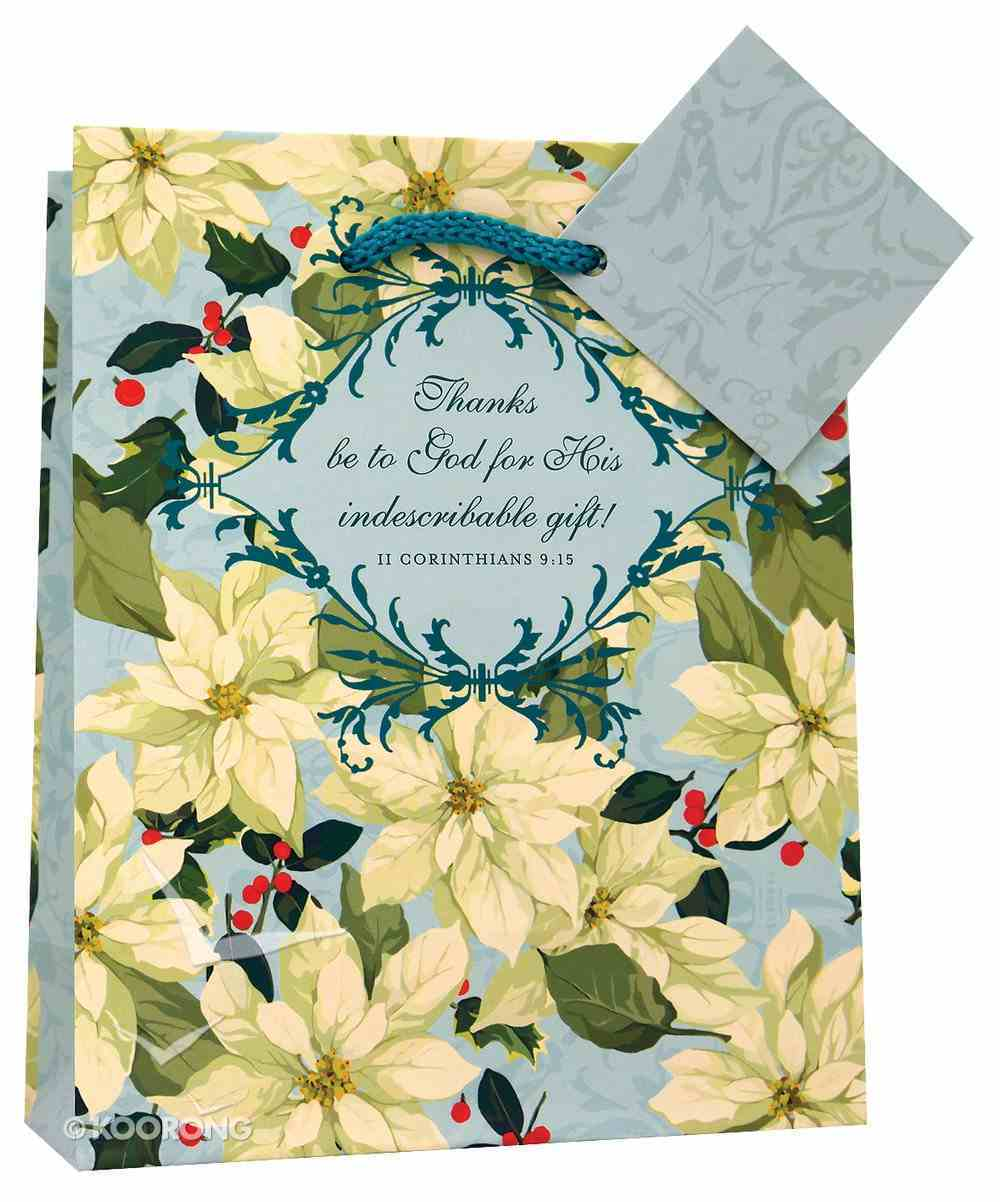 Christmas Gift Bag: White Poinsettia (Small) Stationery