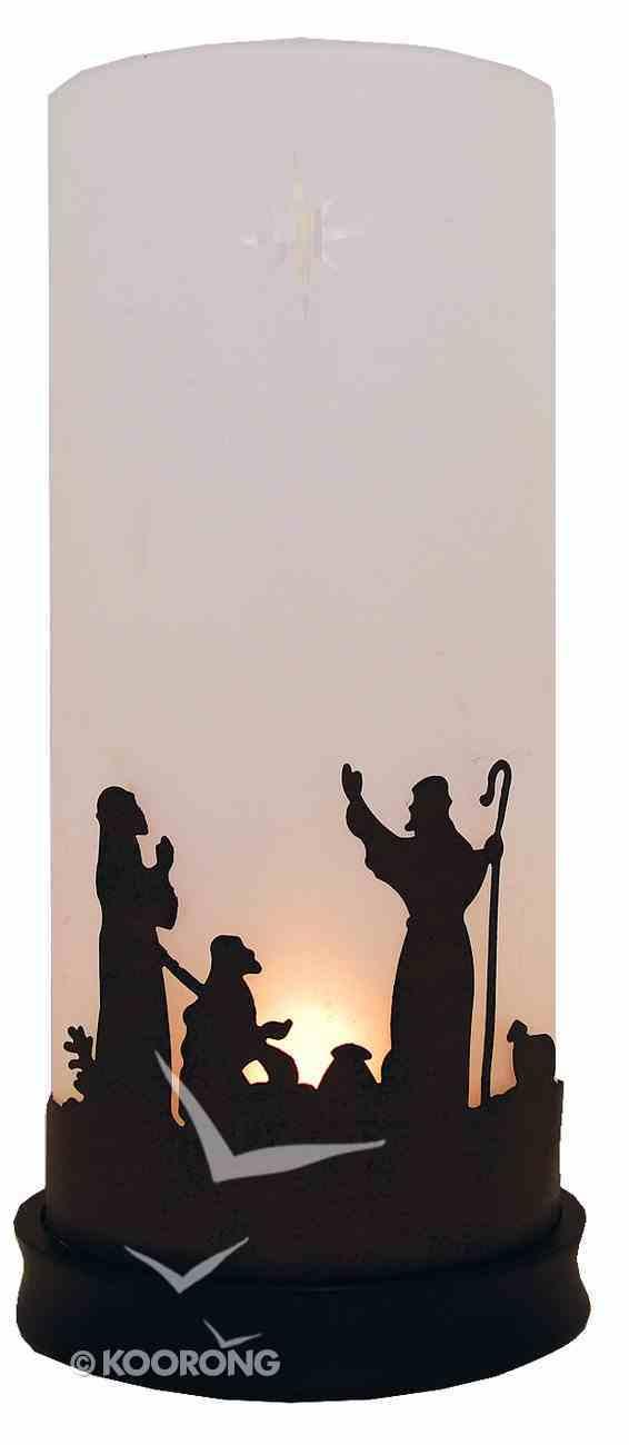 Christmas Nativity Trio Hurricane Candle Holder Homeware
