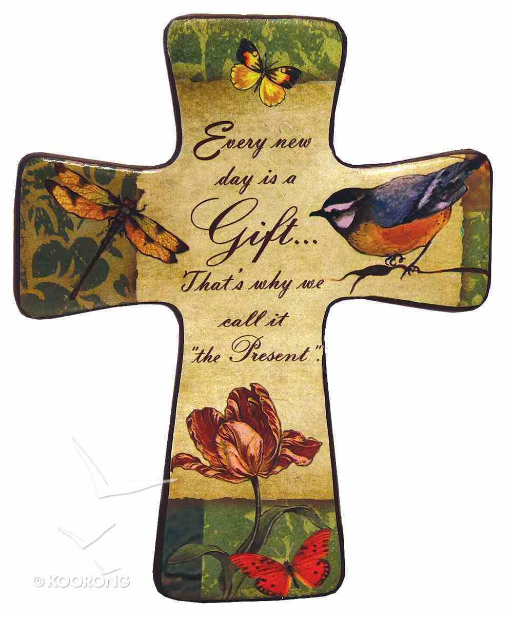 """Ceramic Cross Wall Plaque """"Every New Day"""" Plaque"""