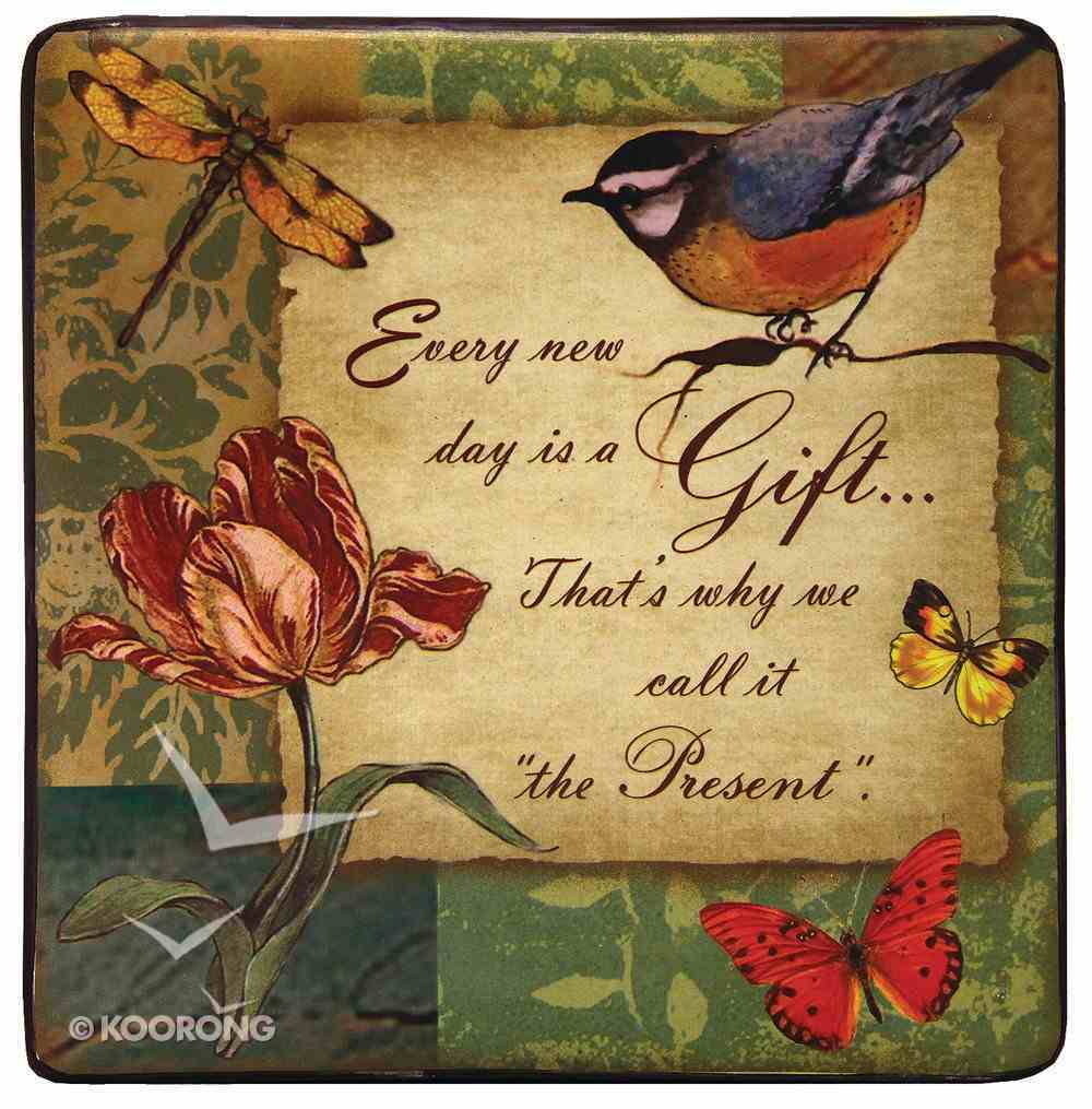 """Ceramic Wall Plaque """"Every New Day is a Gift"""" Plaque"""