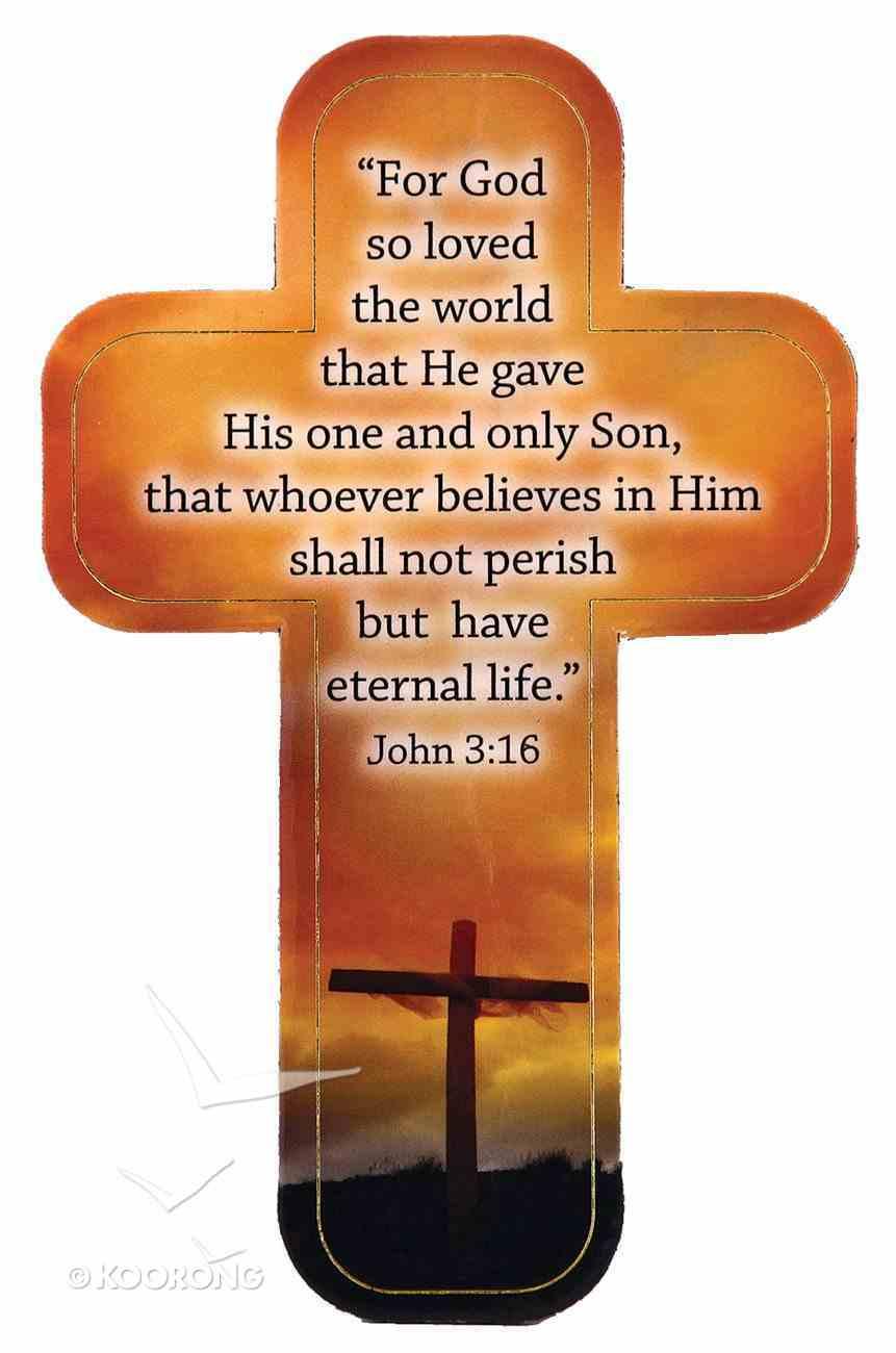 Cross Magnet: For God So Loved the World Novelty