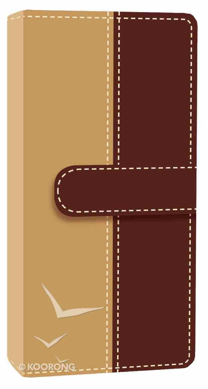 NIV Trimline Bible Camel Chocolate Duo-Tone (Red Letter Edition) Imitation Leather