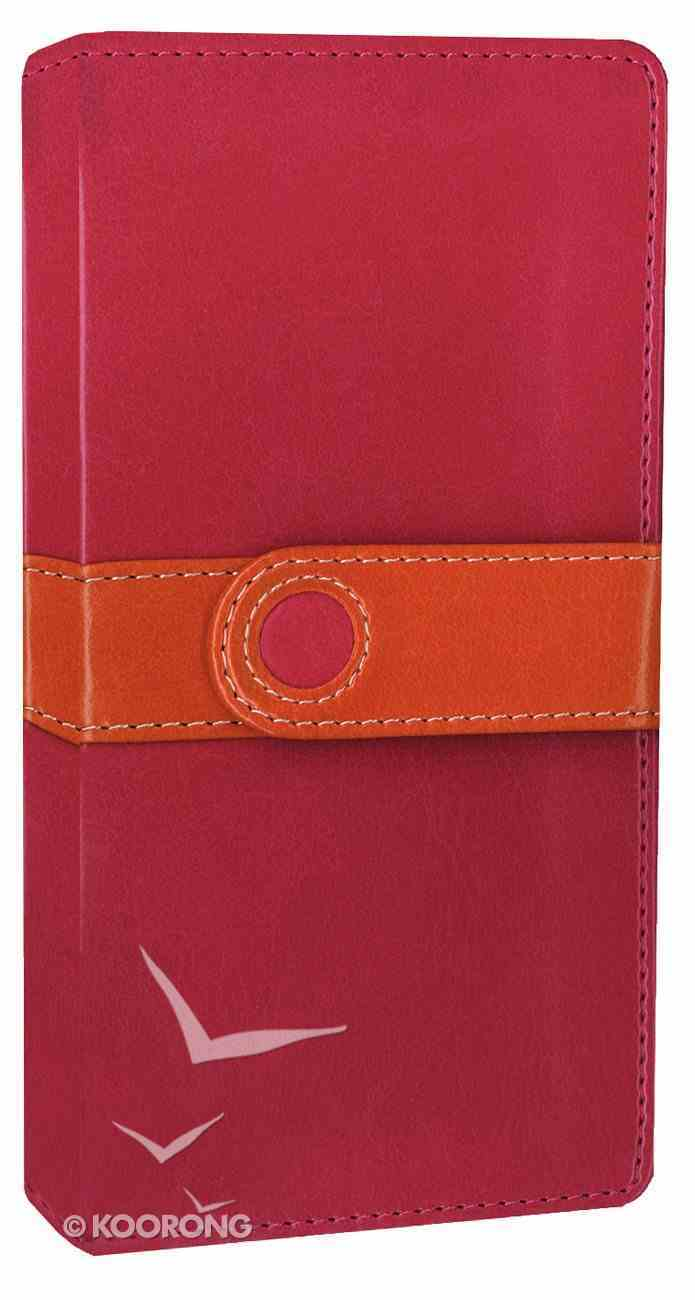 NIV Trimline Bible Pink Orange Duo-Tone (Red Letter Edition) Imitation Leather