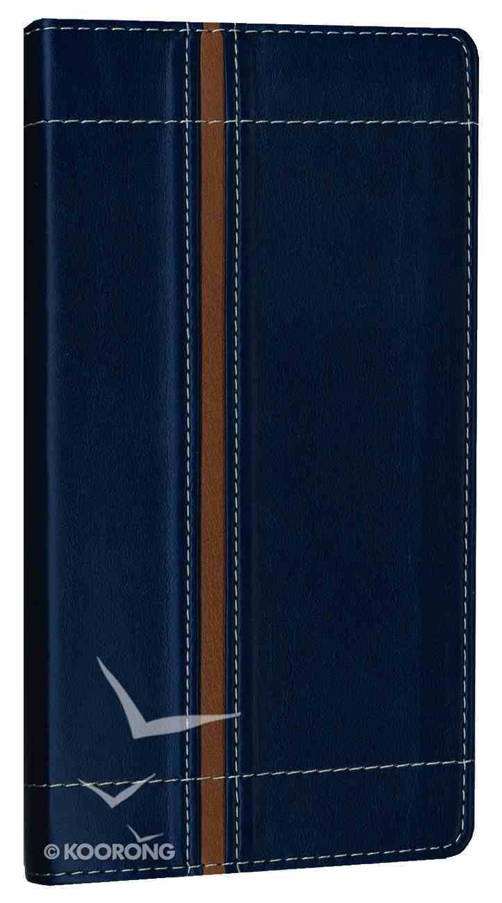 NIV Trimline Bible Blue Tan Duo-Tone (Red Letter Edition) Imitation Leather