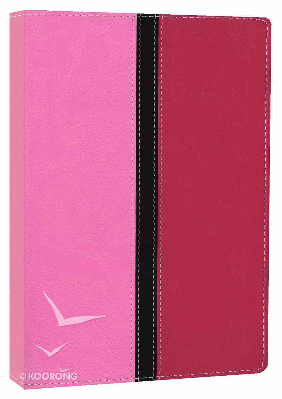 NIV Busy Mom's Bible Pink/Hot Pink (Red Letter Edition) Premium Imitation Leather