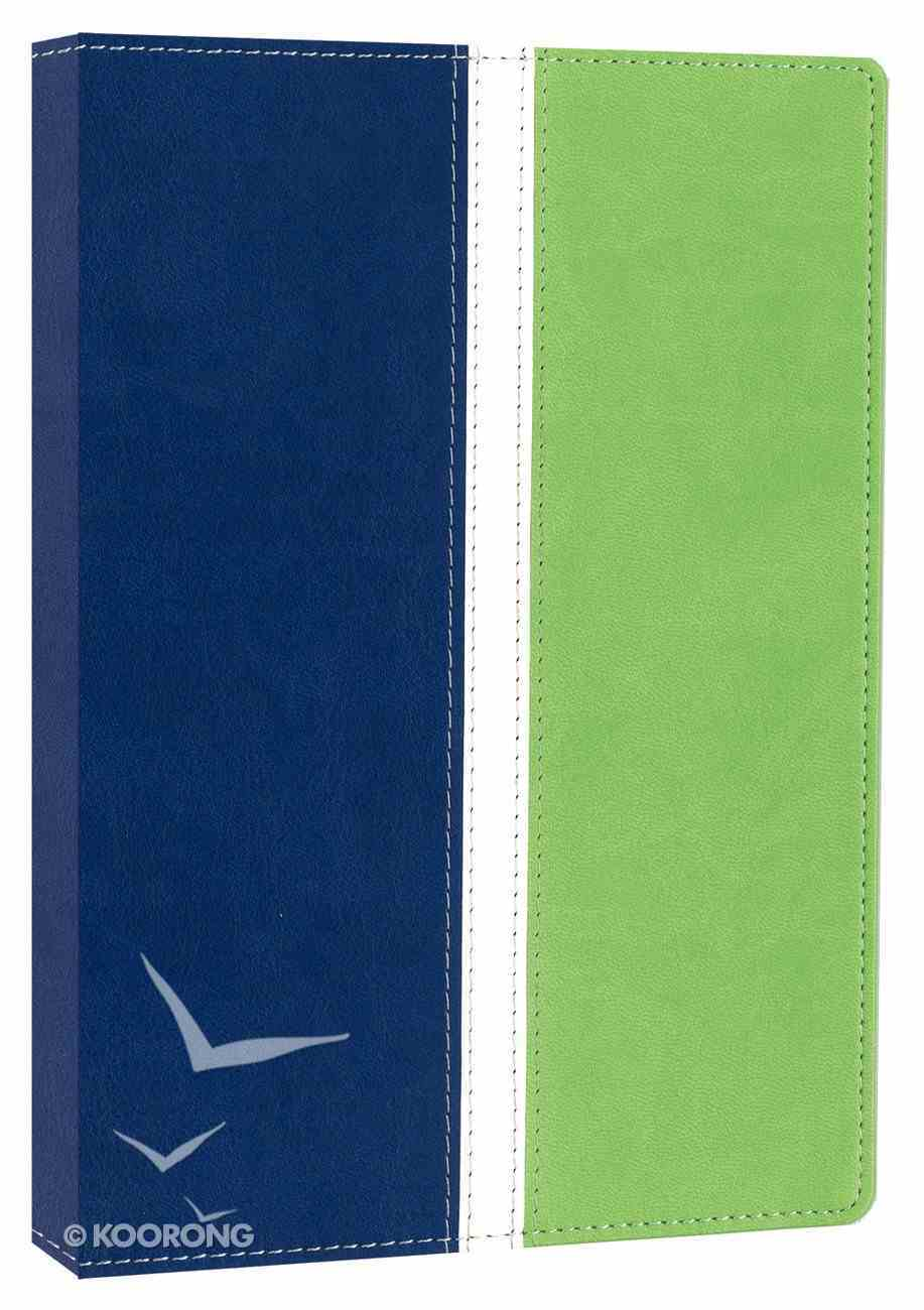 NIV Busy Mom's Bible Blueberry/Spring Green Duo-Tone (Red Letter Edition) Imitation Leather
