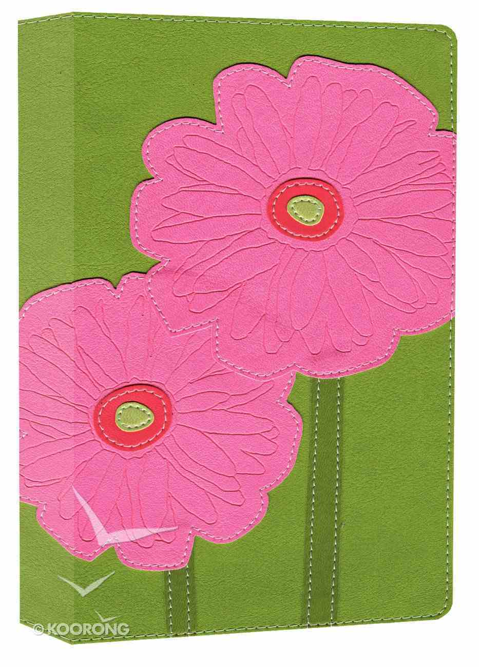 NIV Thinline Bloom Bible Gerbera Daisies (Red Letter Edition) Premium Imitation Leather