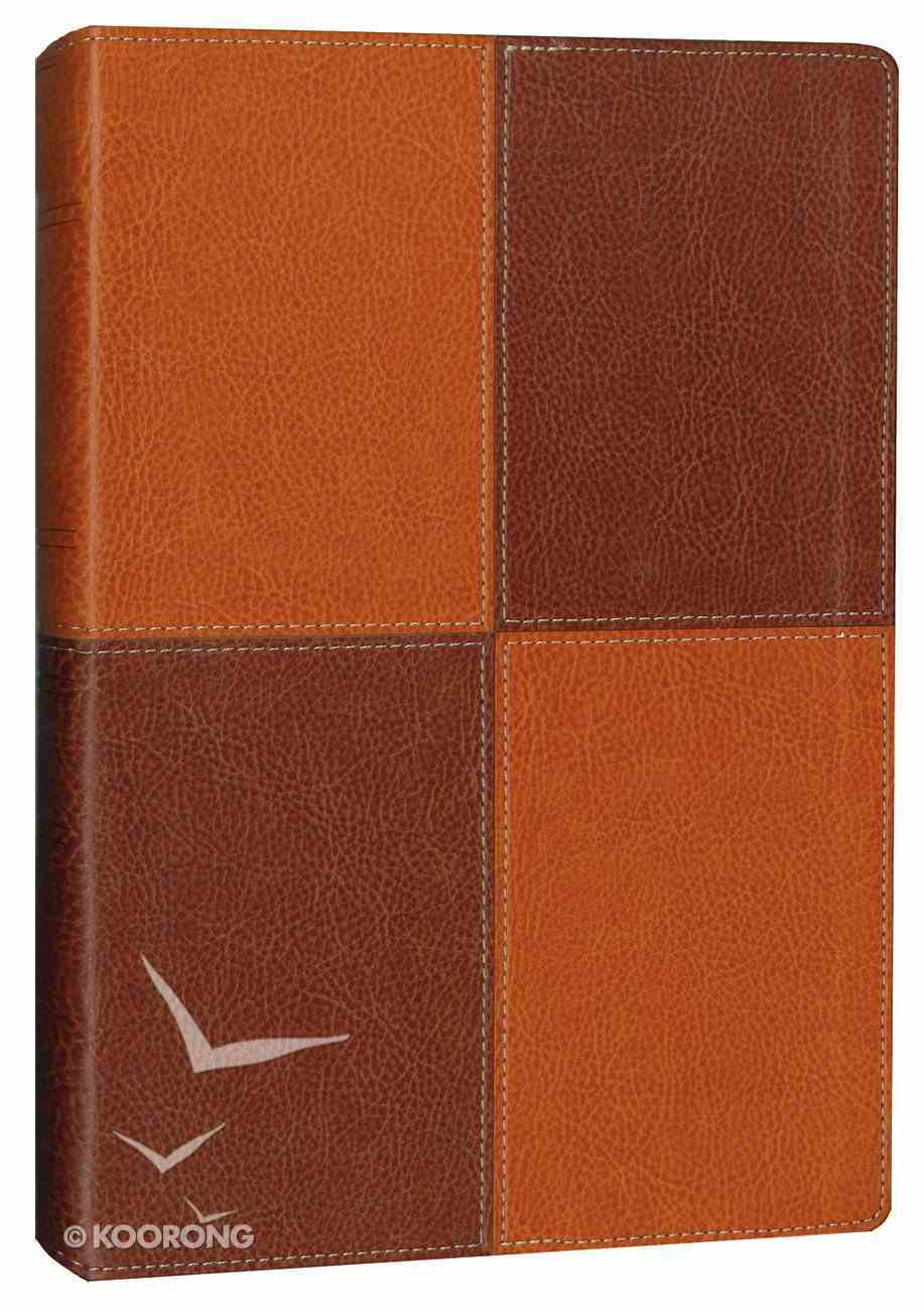 NIV Thinline Reference Large Print Caramel Chocolate (Red Letter Edition) Premium Imitation Leather