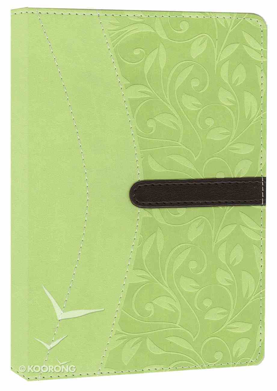 NIV Compact Thinline Bible Melon Green Chocolate Duo-Tone (Red Letter Edition) Imitation Leather