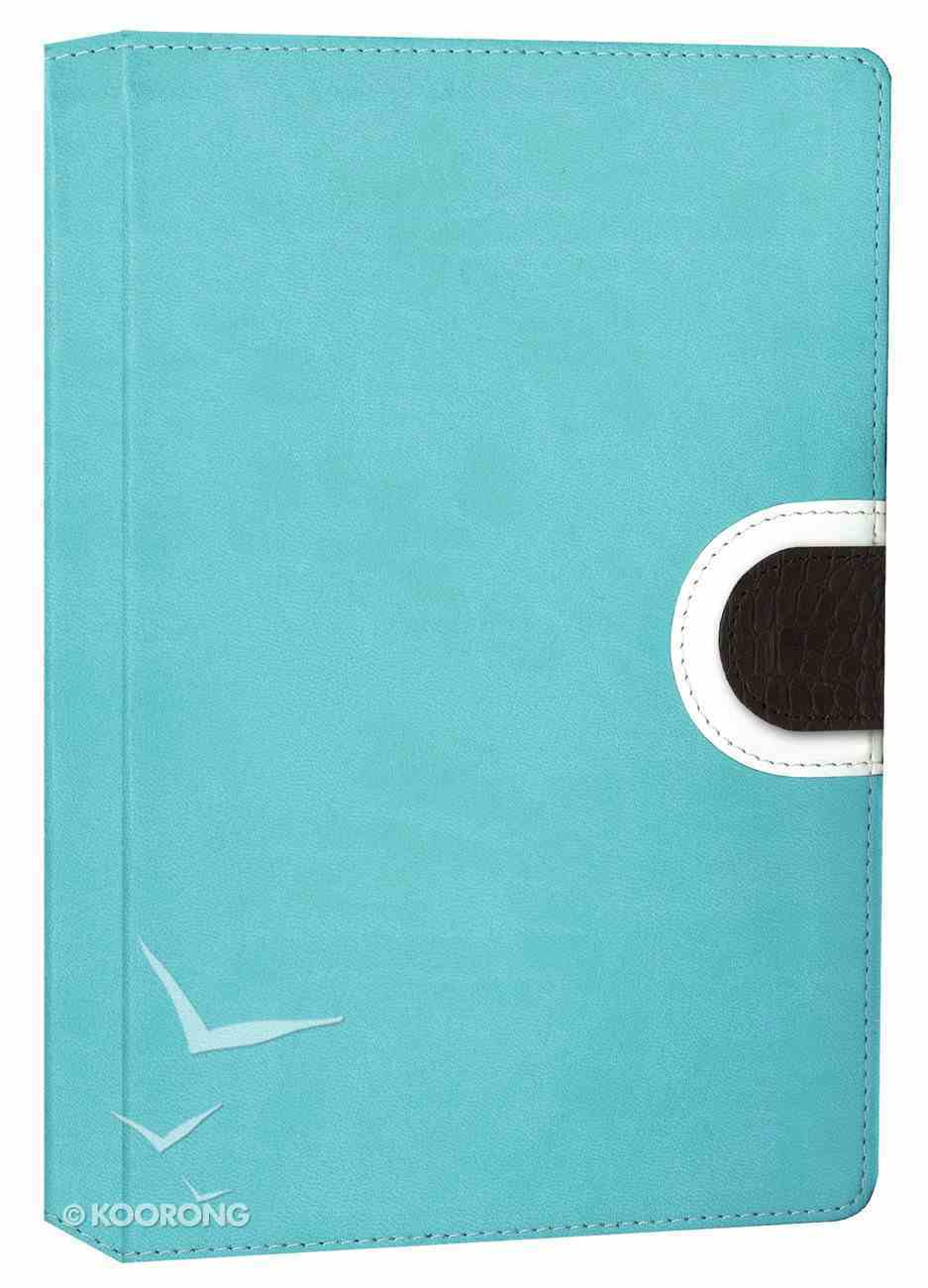 NIV Thinline Bible Turquoise Chocolate Duo-Tone (Red Letter Edition) Imitation Leather