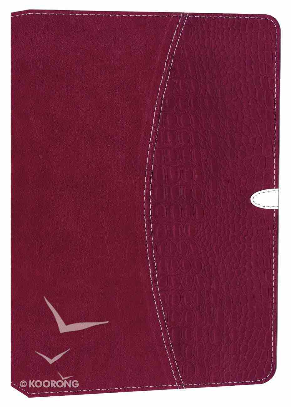 NIV Thinline Bible Razzleberry Duo-Tone (Red Letter Edition) Imitation Leather
