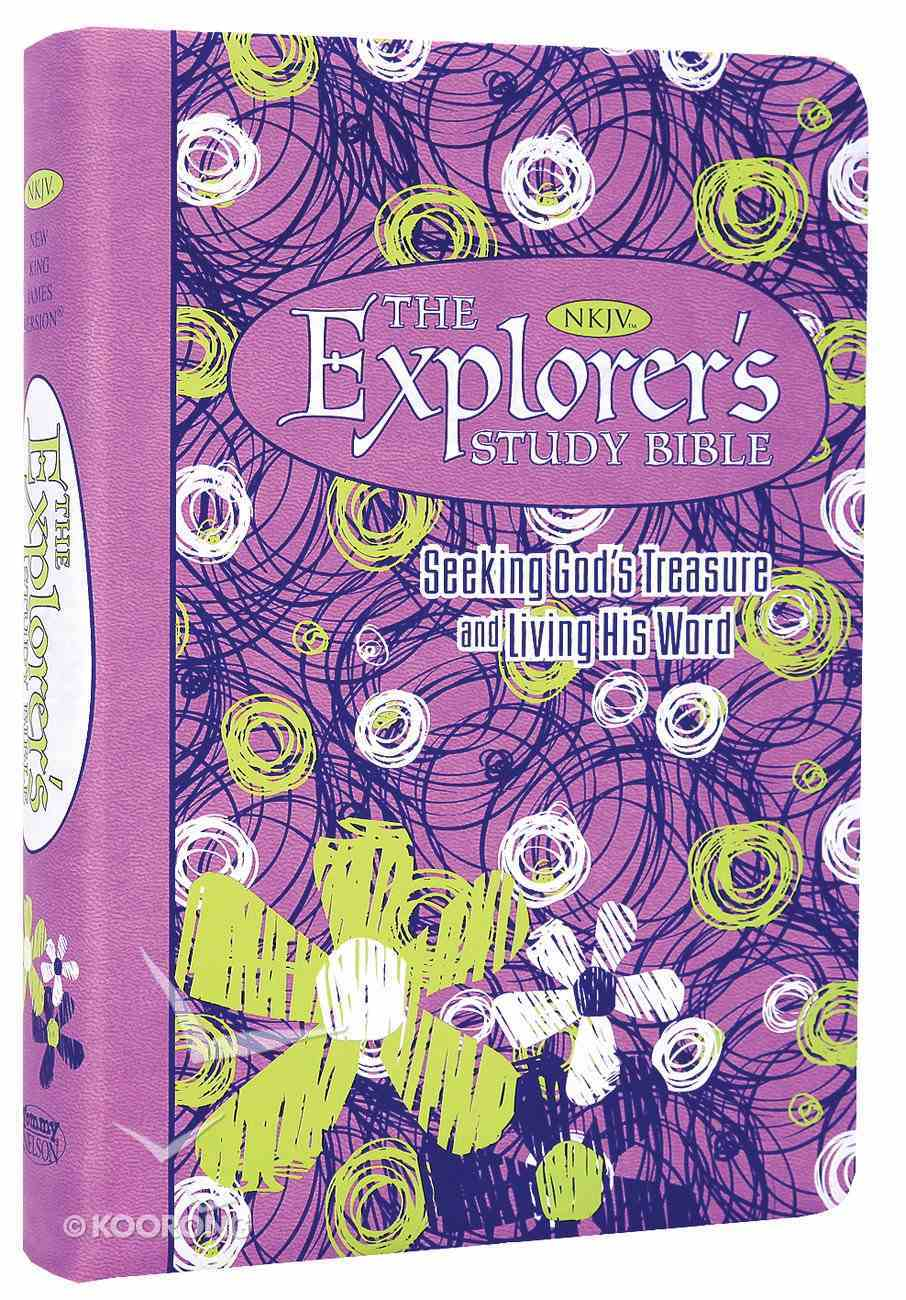 NKJV Explorer's Study Bible Purple Premium Imitation Leather