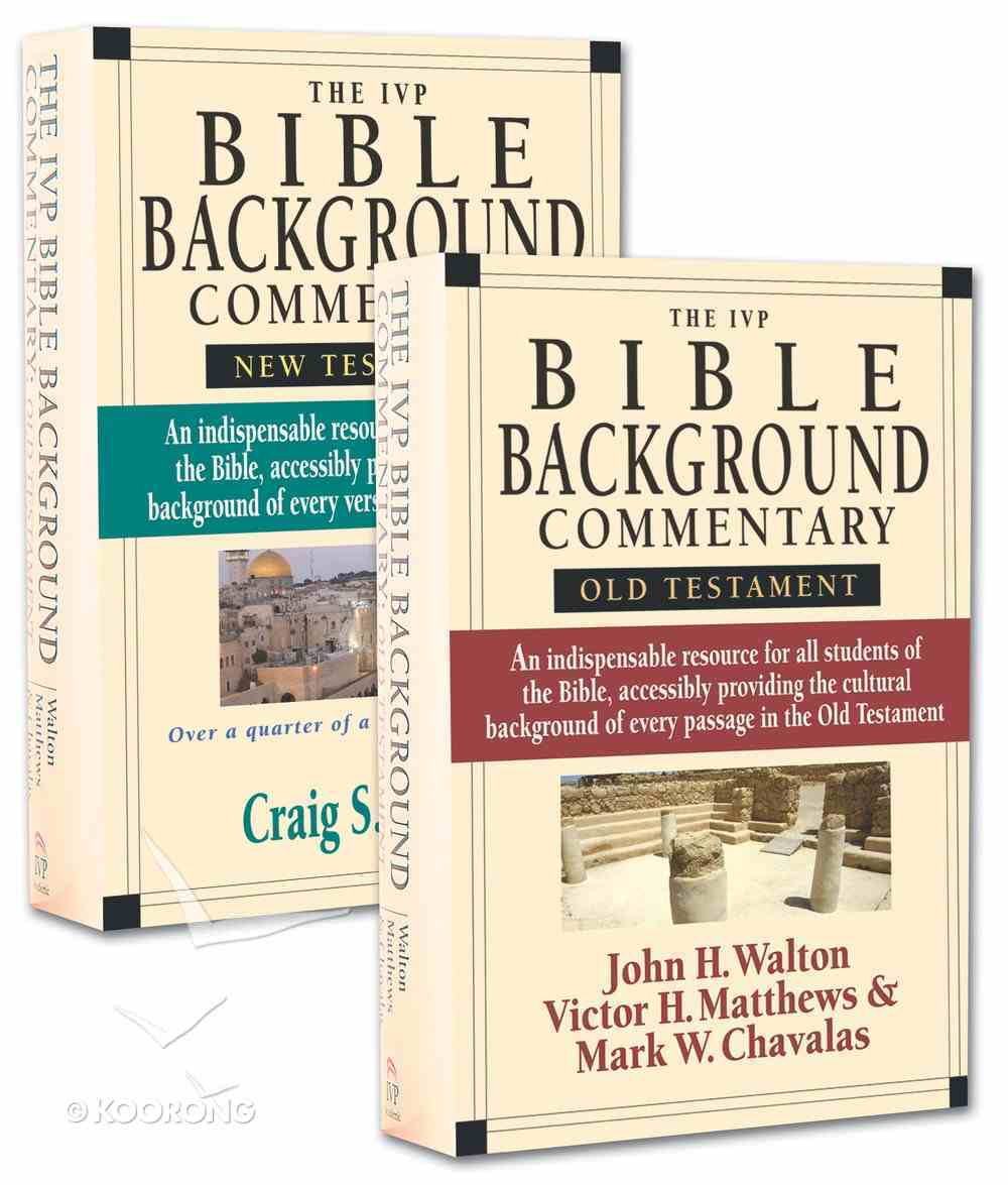 Ivp Bible Background Commentary 2-Pack (2 Vols) Paperback