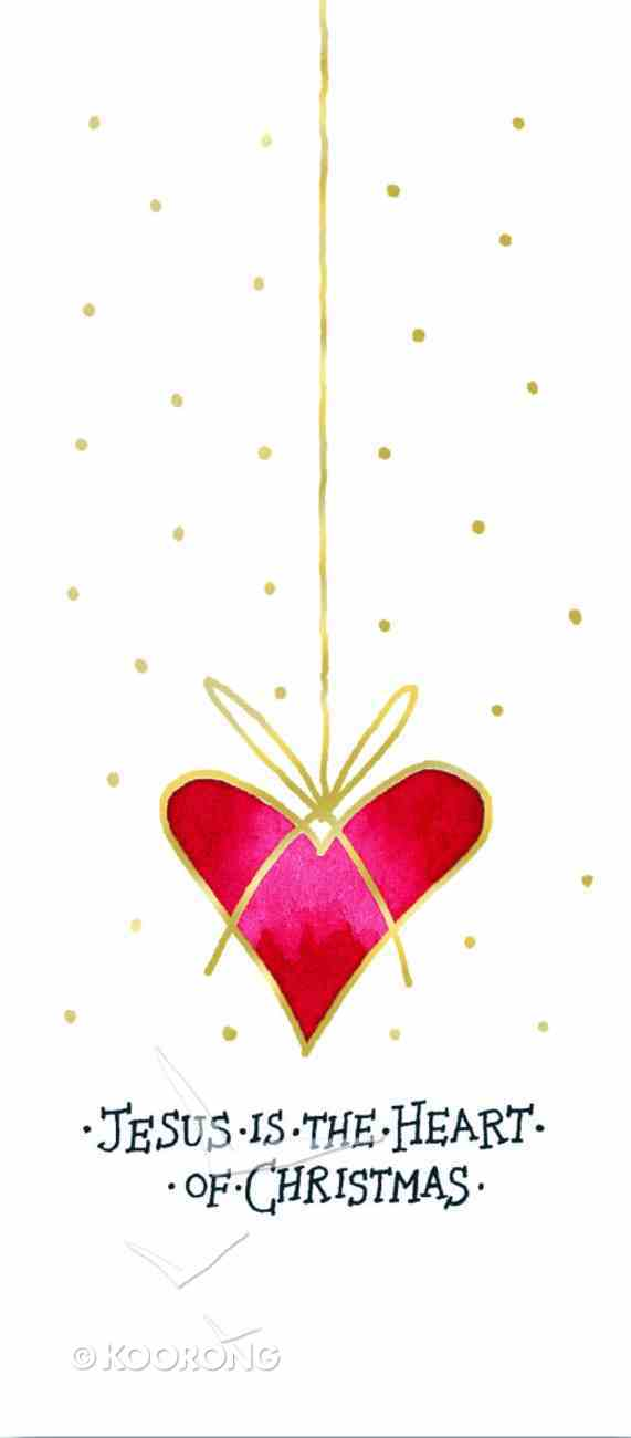 Christmas Boxed Cards: Jesus is the Heart of Christmas Gold Foiled Box