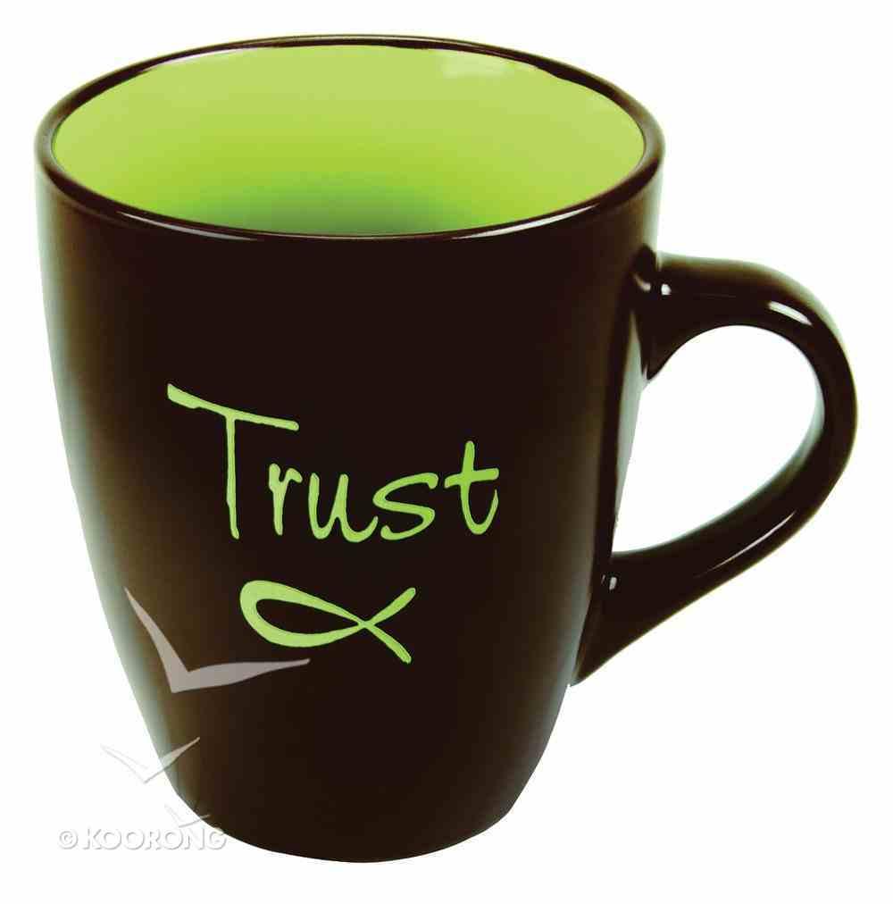 Inspirational Mug: Trust Chocolate With Green Homeware