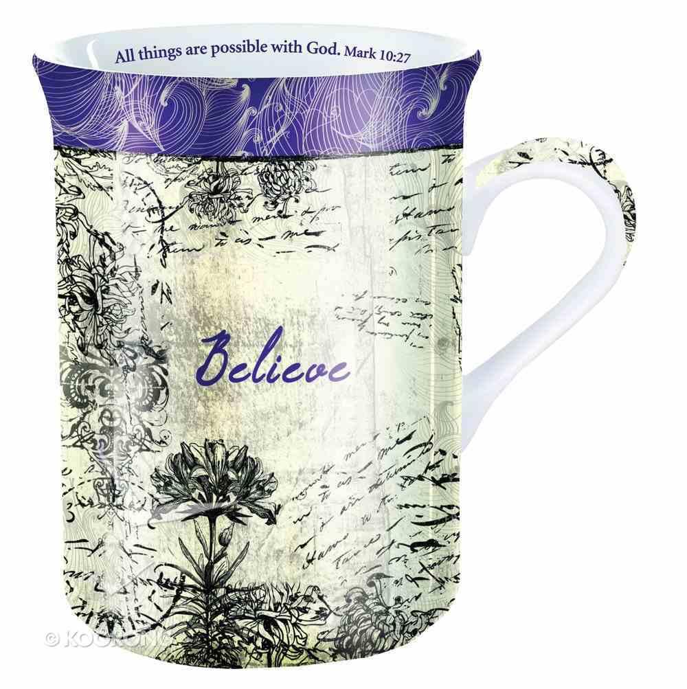 Mug and Coaster Set: Believe Homeware