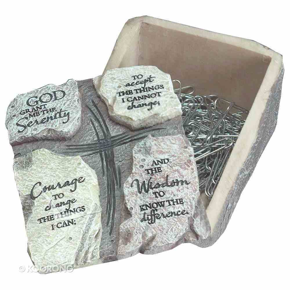 Keepsake Box With Lid: Serenity Prayer (Polyresin) Homeware